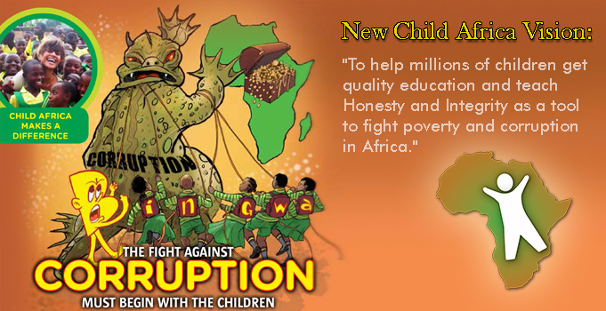 New Child Africa Vision against corruption