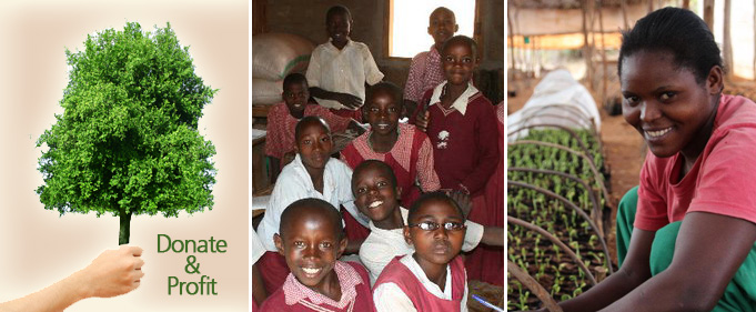 Donate a tree and provide education and employment while profit