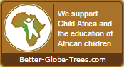 Child Africa seal - We support Child Africa and the education of African children