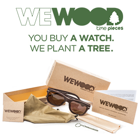 Cotton fiber sunglasses and wood watches from WEWOOD